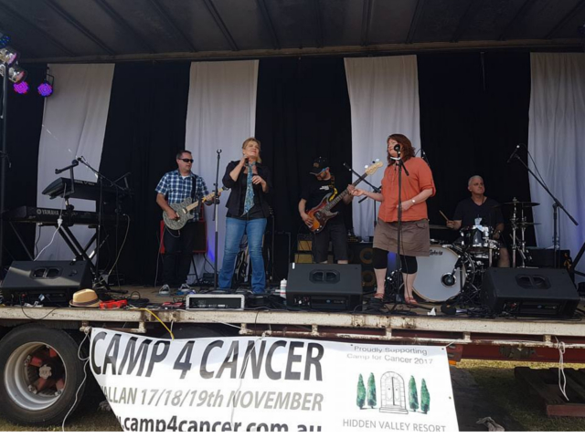 Camp 4 Cancer Music Stage